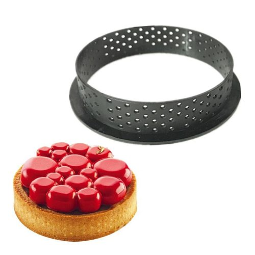 DIY Tart Ring Mold Silicone Cake Tools French Dessert Bakeware Cutter Round Shape Decorating Tool Perforated Mousse Circle