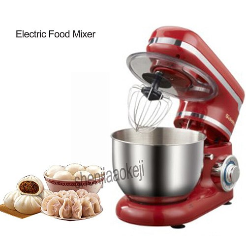 NM6178  Stainless Steel 6-speed Household Kitchen Electric Food Stand Mixer 4L Egg Whisk Dough Cream Blender Appliance 220-240v