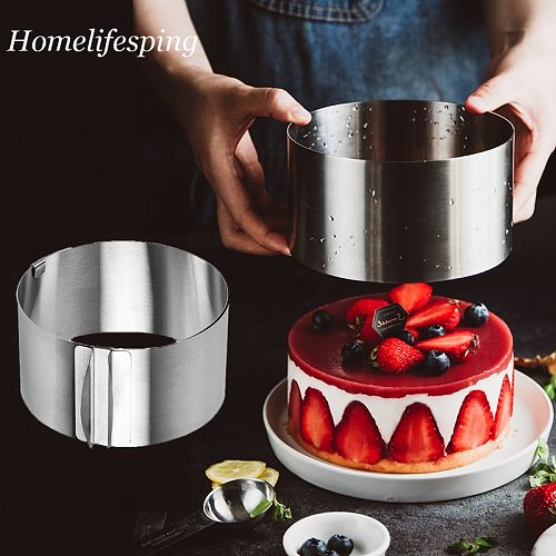 Adjustable Mousse Ring Round Mold Cake Border Paste Film Kitchen Accessory DIY Baking Tools Dessert Decoration