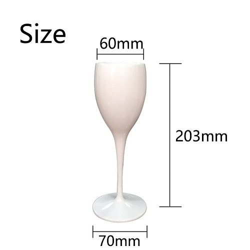2 cups Champagne Flutes Glasses Plastic Wine Glasses Dishwasher-safe White  Acrylic Champagne Glass Transparent Wine Glass