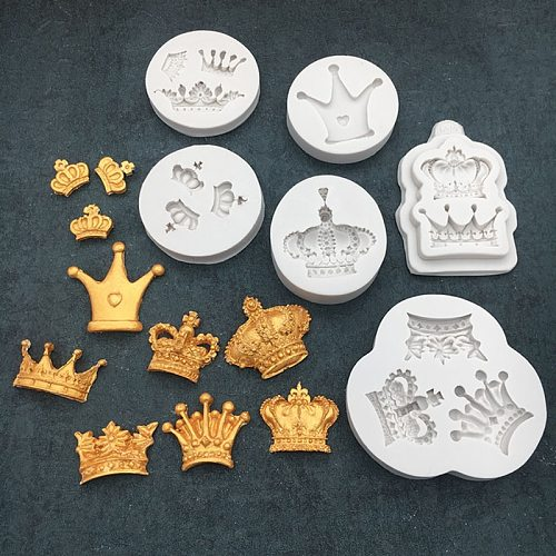 Prince Crown Cupcakes Silicone Mold Fondant Mould Cake Decorating Tool Chocolate, Gumpastes Mold, Sugarcraft ,Kitchen Gadgets