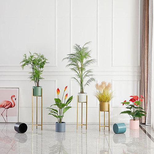 Plants stand Nordic balcony shelf plant green succulent iron art rack outdoor furniture simple floor light luxury Flower holders