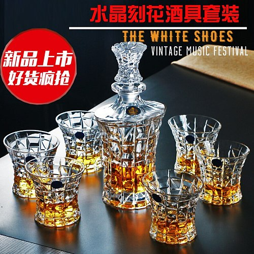 Creative crystal glass large whisky cup beer cup wine decanter jug wine set liquor cup