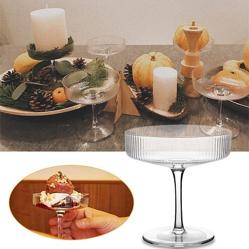 Shallow Mouth Cocktail Wine Crystal Glass Cup Ice Cream Yogurt Goblet Pudding Dessert Container Home Bars Parties Champagne Cups