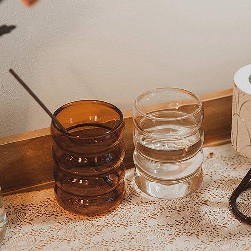 Creative Water Bottle Wave Shape Glass Cup Heat-resistant Beer Drinkware Tea Mug Coffee Juice Milk Tea Home Cafe Drinkware Gift