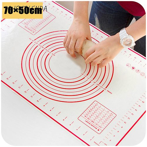 Silicone Cake Mat Non Stick Baking Mat Dough Rolling Mat Rolling Pins Pastry Boards High Quality1pcs