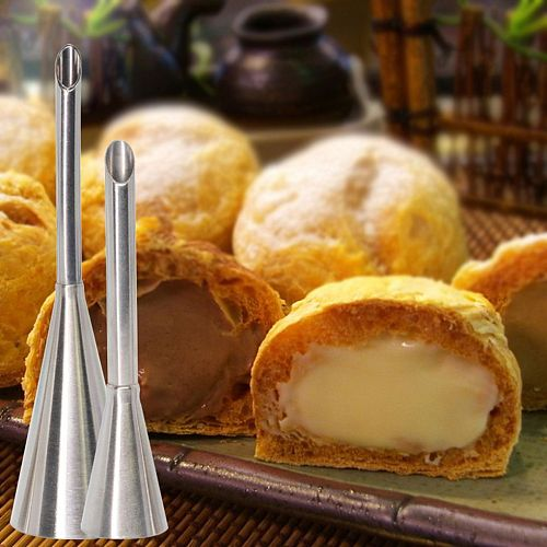 1/2/3PCS Puff Cake Tip Pastry Cream Butter Stainless Steel Nozzle Decor Baking Piping Tube DIY Kitchen Home