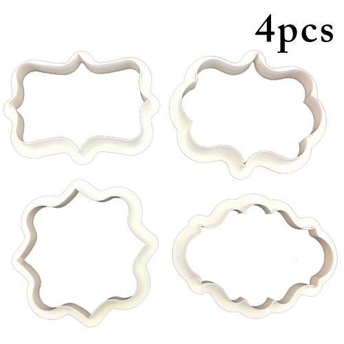 Kapmore 4Pcs/Set Creative Cookie Cutter DIY Decor Fondant Mold Candy Cookie Mold DIY Baking Tools Accessories Kitchen Tools