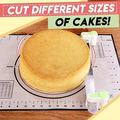 Even Cake Slicing Leveler Cake Slicers 5 Layers Cake Pie Slicer Sheet Guide Cutter Server Bread Cutting Fixator Kitchen Tools