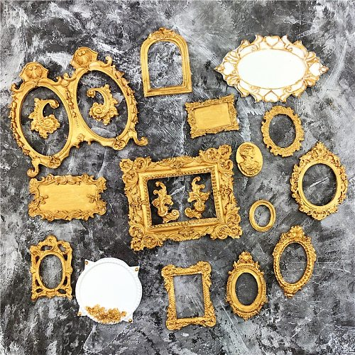 DIY Mirror Fondant Cake Decorating Tools Frame Cupcake Chocolate Wedding Cake Border Silicone Molds Kitchen Baking Moulds