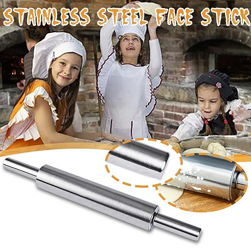 Stainless Steel Rolling Pin Pastry Board for Baking Dough Pizza Pie Cookies Professional Dough Roller Bakeware Roller Dishwasher