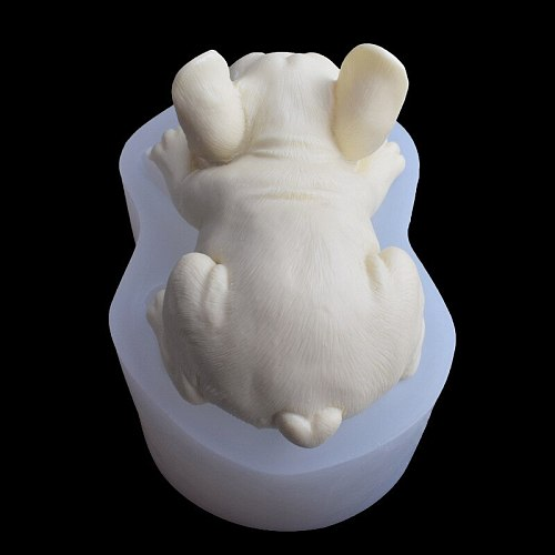 1pcs 3d French Bulldog Soap Mold Silicone Mold For Fondant Chocolate Candy Cake Decorating Candle Silicone Molds For Soap Making