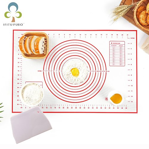 Food Grade Silicone Baking Mat Kneading Mat High Temperature Resistant Pastry Pizza Maker Kitchen Baking Tool LXX