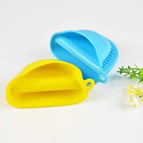 1pc Silicone Anti-slip Baking Oven Mitts Thicken Microwave Oven Glove Insulation Non Stick Grips Bowl Pot Clips Kitchen Tools