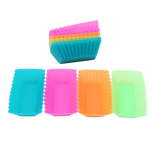 12pcs Silicone Liner Cupcake Paper Baking Cup 3D Cake Cup Muffin Cases Cake Mold  Small Cake box Cup Tray Decorating Tools