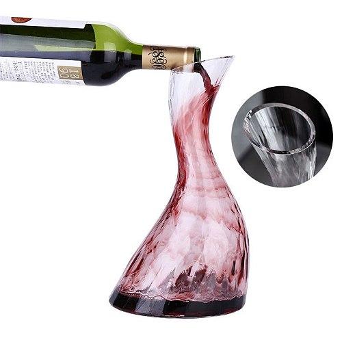 1300ML Big Wine Decanter Crystal Red Wine Brandy Champagne Glasses Decanter Bottle Jug Pourer Aerator For Bar Vodka Cocktail
