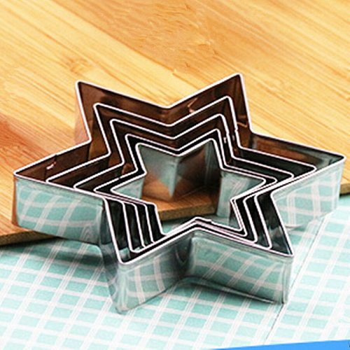 5Pcs/set Cookie Molds Star Shape Biscuit Cutters Stainless Steel Cake Decoration Fondant Cutter Baking tools