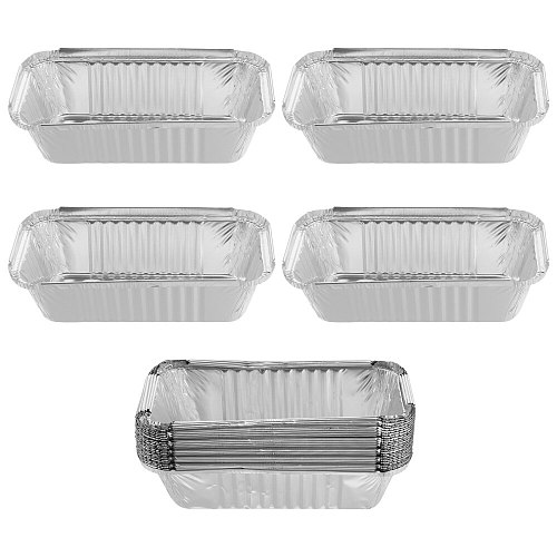 25pcs Disposable Foil Pans Safety Tin Foil Barbecue Box Chic Food Container