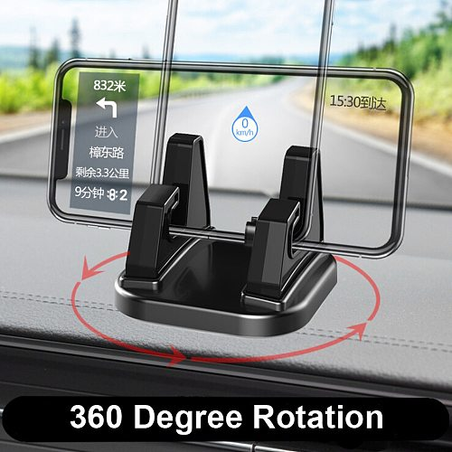 car accessories 360 Degree Rotate Car Cell Phone Holder Dashboard Sticking Universal Stand Mount Bracket For Mobile Phone