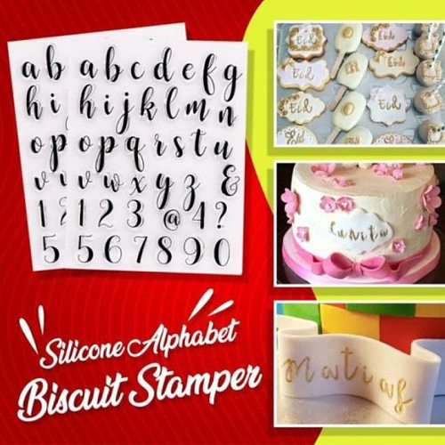 Silicone Mold Kitchen Accessories DIY English Alphabet Letter Biscuit Stamper Cake Tools Baking Decorating Fondant Pastry Tools