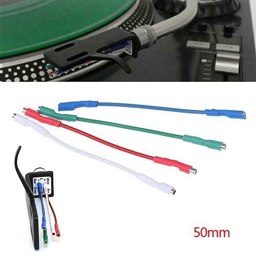 4 Pcs 50mm 5N Pure Sliver Leads Header Wire Cable Universal For 1.2-1.3mm Pins Turntable Phono Headshell