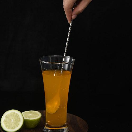 Hoge Kwaliteit Roestvrij Staal Cocktail Bar Spiraal Keuken Patroon Servies Roerder Drink Shaker Muddler Twisted Mengen Lepe Z3S4