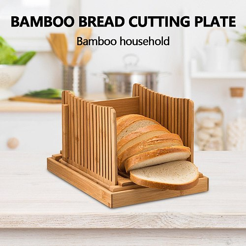 Nature Bamboo Bread Slicer For Homemade Bread Foladable & Compact Toast Cutting Board Guide Adjustable 3 Thickness Cutter