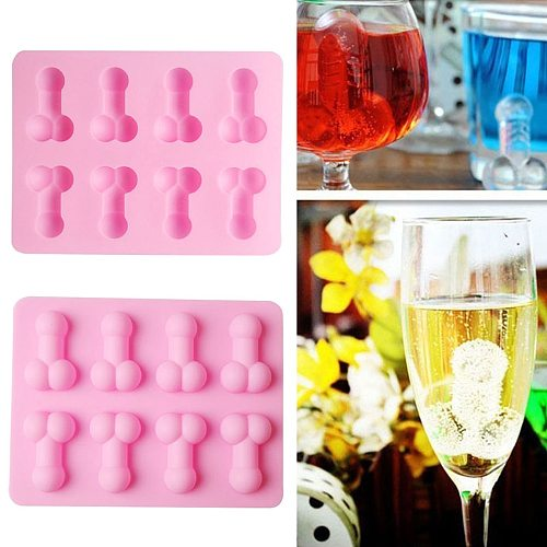 Sexy Men Penis Shape Silicone Mold For Cake Chocolate Fondant Resin Soap Candle Male Organ Ice Water Stencil Adults Kitchen Tool
