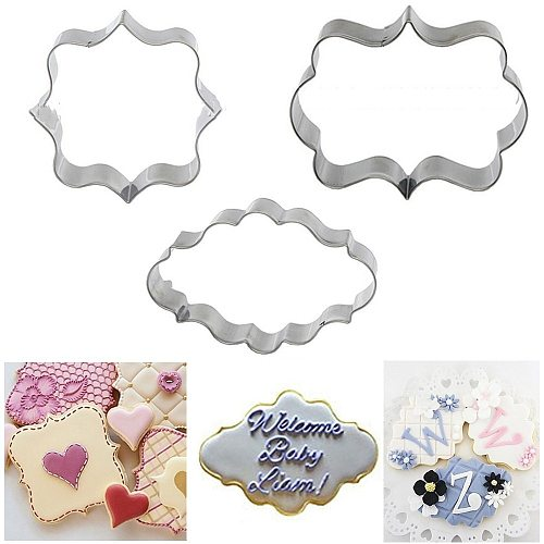 3pcs Cookie mold Cookie Cutter Tools Aluminium Alloy Gingerbread Men Shaped Holiday Biscuit Mold Kitchen cake Tools 50N