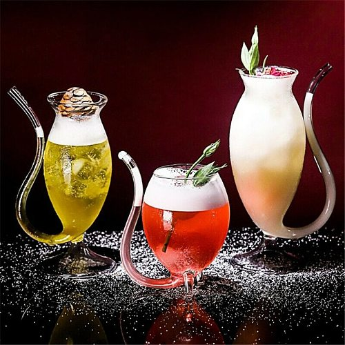 Wine Whiskey Glass Cup Transparent Heat Resistant Glass Sucking Juice Milk Cup Tea Wine Cups Cocktail Drinking Glasses Canecas