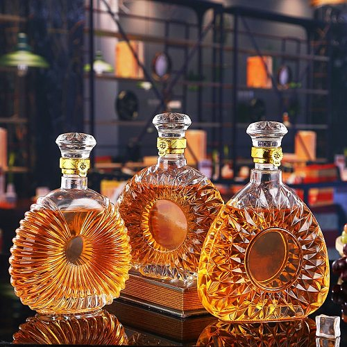 Whiskey Decanter Whiskey Bottle Crystal Glass Wine Beer Containers Glass Bottle Glass Cup Home Bar Tools Decoration