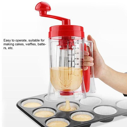 Manual Pancake Cupcake Batter Mixer Batter Dispenser Blender Machine Cakes Cream Butter Cake Whisk Baking Tool