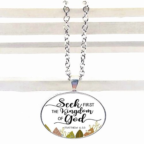 2020 NEW Dear God Thank You for Everything Bible Verses Nursery Verse Necklace Fashion Jewelry Religion Pendant Christian