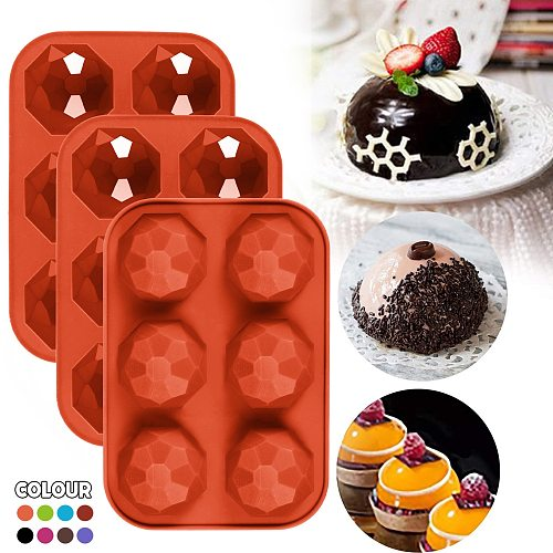 3pc DIY Half Ball Silicone Cake Mold 3D Bomb Shape Chocolate Cake Dessert Cookie Baking Pan Tray Mould patisserie moule silicone
