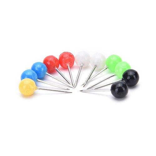 100Pcs Pearl Sewing Needles Straight Pins DIY Multi-color Round Head Dressmaking Corsage Tools Dress DIY Wedding Crafts Supplies