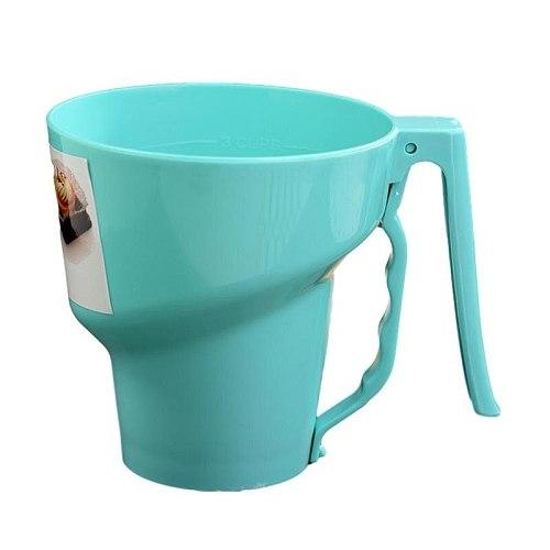 Funnel Shape Sieve Cup Manual Powder Flour Mesh Shape Flour Tool Fine Baking Icing Powder Sifter Sifter Mesh Sieve T4W7