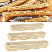 Handmade French Baguette Fermentation Country Bread Dough Banneton Brotform Proofing Proving Rattan Basket with Cloth Cover