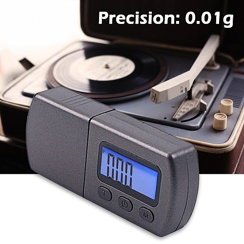 Electronic Turntable Stylus Meter Gauge Digital Pressure Lightweight Portable Magnetic LCD Portable Music Elements