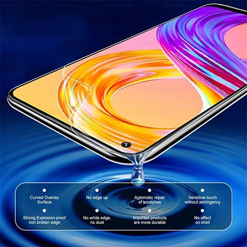 Realmi 8 Pro Hydrogel Film Front+Back Screen Protectors Not Glass for OPPO Realme Realmi Realmy Relme 8 Pro 6.4'' Camera Glass