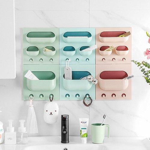 all Mounted Baskets for Kitchen Organization Storage Hanging Basket Multifunctional Shelf Home Kitchen Bathroom Storage Rack