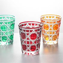 Drinking Glass Party Cup Kitchen Bar Utensils Carved Birthday Present/Gift Nordic Style Round Blue/Green/Red/Pink 320ML
