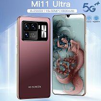 2021 Newest 6.7 Inch Mi 11 Ultra 8+256GB Andriod10 Phone MTK6889 10 Core 6800mAh Big Battery 16+32MP Smartphones 4G 5G LTE