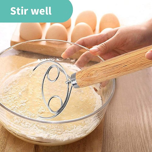 2PCS Stainless Steel Dough Whisk Flour Hand Mixer For DIY Bakeware Bread Cookie Dumpling Pizza Dough Baking Tool Kitchen Gadgets