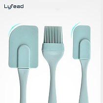 Lyfead Cream Scraper Non-stick Pastry Spatulas Bread Cake Butter Spatula Mixer Oil Brush Kitchen Baking Tool Silicone Spatula