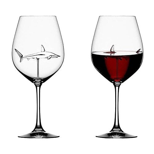 300ML Romantic Dolphin Swin Wine Cup Crocodile Animal Champagne Coupes Cocktail Glass MOET Flutes For Candlelight Dinner Party