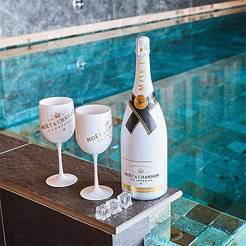 2Pcs Wine Party White Champagne Coupes Cocktail Glass Champagne Flutes Wine Cup Goblet Plating Plastic Beer Glass white Cups