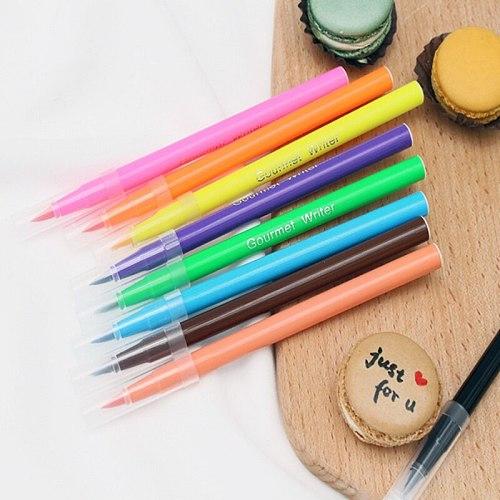 10 Colors Edible Pigment Pen Brush Food Coloring Pen Drawing Biscuits Fondant Cake Decorating Tools Cake DIY Draw Tool 2021
