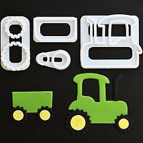Free Shipping 4Pcs/Set Cake Cookie Plunger Cutters Fondant Cake Molds Vehicles Theme Cake Decorating Baking Tools