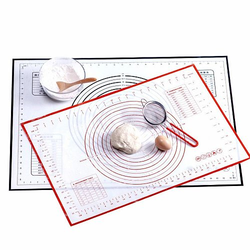 Kneading Mat Silicone Mat Large Cutting Board Rolling Pin Noodle Cutting Knife Cake Baking Supplies Kitchen Accessories Gadgets