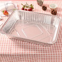 10pcs/set Mess Tin Lunch Box Grease Drip Pans Tray Outdoor For Cooking Disposable BBQ Aluminium Foil Box Without Cover